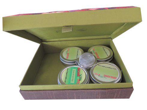 Organic tea sampler silk gift box