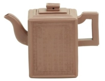 Square clay teapot