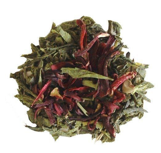 Green tea with hibiscus