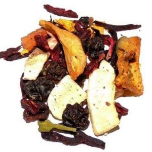 Coconut and herbs fruit tisane