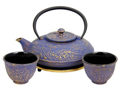Cast iron tea set